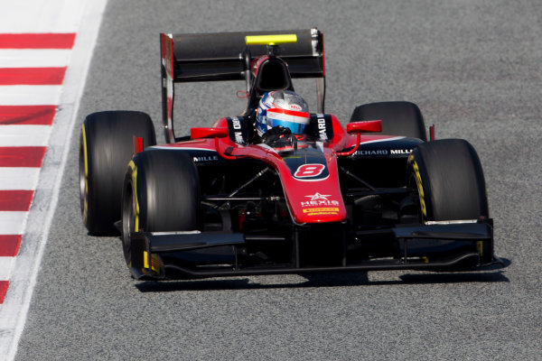 Circuit de Barcelona Catalunya, Barcelona, Spain. Tuesday 14 March 2017. Alexander Albon (THA, ART Grand Prix). Action.  Photo: Alastair Staley/FIA Formula 2 ref: Digital Image 585A7991