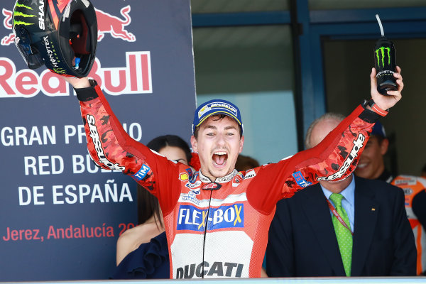 2017 MotoGP Championship - Round 4 Jerez, Spain Sunday 7 May 2017 Jorge Lorenzo, Ducati Team World Copyright: Gold & Goose Photography/LAT Images ref: Digital Image 16130