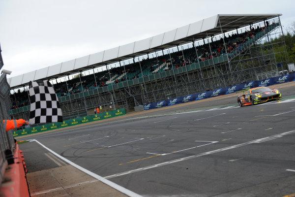 2017 World Endurance Championship, Silverstone, UK. 14th-16th April 2017, Weng Sun Mok / Keita Sawa / Matthew Griffin Clearwater Racing Ferrari 488 GTE World Copyright. JEP/LAT Photographic