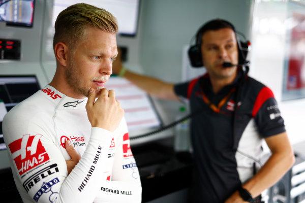 Sepang International Circuit, Sepang, Malaysia. Saturday 30 September 2017. Kevin Magnussen, Haas F1.  World Copyright: Andy Hone/LAT Images  ref: Digital Image _ONY3019