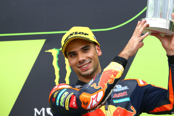 2017 Moto2 Championship - Round 10 Brno, Czech Republic Sunday 6 August 2017 Podium: third place Miguel Oliveira, Red Bull KTM Ajo World Copyright: Gold and Goose / LAT Images ref: Digital Image 50874