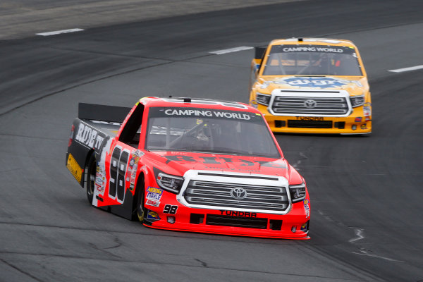 NASCAR Camping World Truck Series UNOH 175  New Hampshire Motor Speedway Loudon, NH USA Friday 22 September 2017 Grant Enfinger, Ride TV Toyota Tundra, Cody Coughlin, JEGS Toyota Tundra World Copyright: Lesley Ann Miller LAT Images