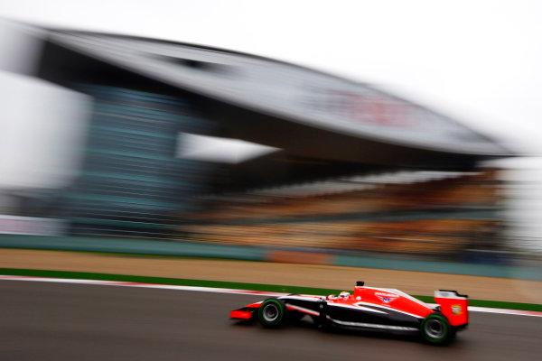 Shanghai International Circuit, Shanghai, China. Saturday 19 April 2014. Jules Bianchi, Marussia MR03 Ferrari. World Copyright: Charles Coates/LAT Photographic. ref: Digital Image _N7T2621