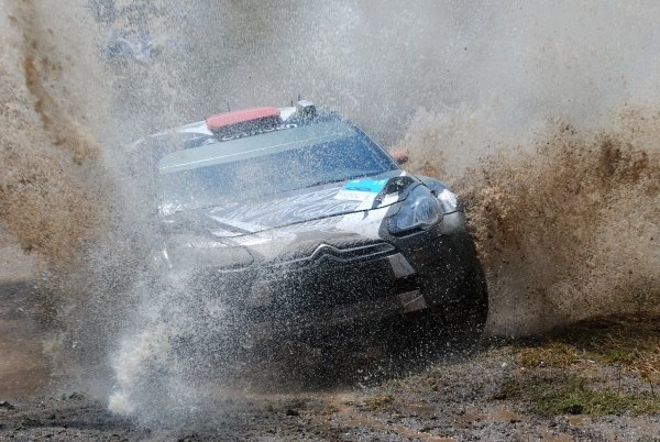 Kimi Raikkonen (FIN), Citroen DS3 WRC, on stage 4. World Rally Championship, Rd7, Acropolis Rally, Loutraki, Greece, Day One, Friday 17 June 2011.