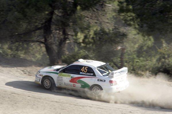 2007 FIA World Rally ChampionshipRound 8Acropolis Rally of Greece31/5-- 3/6  2007Mirco Baldacci, Subaru, Action.Worldwide Copyright: McKlein/LAT