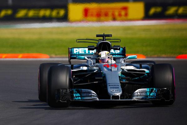Autodromo Hermanos Rodriguez, Mexico City, Mexico. Friday 27 October 2017. Lewis Hamilton, Mercedes F1 W08 EQ Power+.  World Copyright: Sam Bloxham/LAT Images  ref: Digital Image _W6I9769