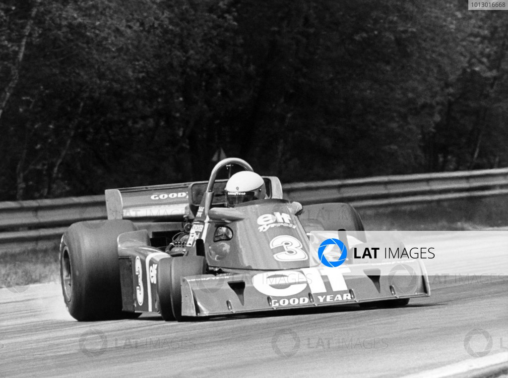 1976 Italian Grand Prix. Monza, Italy. 10th - 12th September 1976. Jody Scheckter (Tyrrell P34-Ford) 5th position, action. World Copyright: LAT Photographic. ref: B/W Print