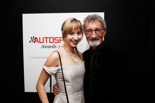 2015 Autosport Awards. Grosvenor House Hotel, Park Lane, London. Sunday 6 December 2015. Eddie Jordan with guest. World Copyright: Adam Warner/LAT Photographic. ref: Digital Image _L5R9002