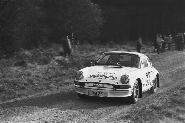 1973 Daily Mirror RAC Rally. York, England. 17th - 21st November 1973. Harold Morley / Bob Lindquist (Porsche Carrera RS), 22nd position, action.  World Copyright: LAT Photographic.  Ref:  L73 - 5887 - 28A.