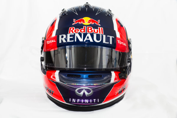 Circuito de Jerez, Jerez, Spain. Tuesday 3 February 2015. Helmet of Daniil Kvyat, Red Bull Racing.  World Copyright: Red Bull Racing (Copyright Free FOR EDITORIAL USE ONLY) ref: Digital Image 2015_RED_BULL_HELMET_06