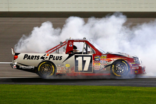 28 September, 2013, Las Vegas, Nevada USA Timothy Peters celebrates his win with a burnout © 2013, Russell LaBounty LAT Photo USA