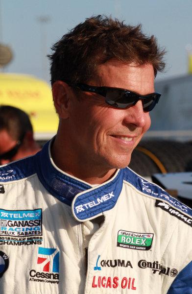 16-17 August, 2013, Kansas City, Kansas USA Scott Pruett stands in the pits before the race. ©2013, R.D. Ethan LAT Photo USA