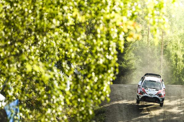 Jari-Matti Latvala (FIN) / Miikka Anttila (FIN), Toyota Gazoo Racing Toyota Yaris WRC at World Rally Championship, Rd9, Rally Finland, Day One, Jyvaskyla, Finland, 28 July 2017.
