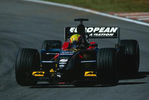 2002 Brazilian Grand Prix.Interlagos, Sao Paulo, Brazil. 29-31 March 2002.Mark Webber (Minardi PS02 Asiatech).Ref-02 BRA 63.World Copyright - Charles Coates/LAT Photographic