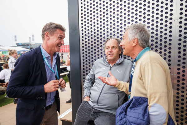 ex F1 drivers David Coulthard, Gerhard Berger and Riccardo Patrese