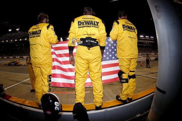 #20: Christopher Bell, Joe Gibbs Racing, Toyota Camry DEWALT Salute First Responders crew