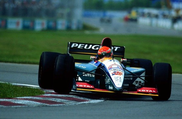 1995 Canadian Grand Prix.Montreal, Quebec, Canada.9-11 June 1995.Eddie Irvine (Jordan 195 Peugeot) 3rd position.World Copyright - LAT Photographic