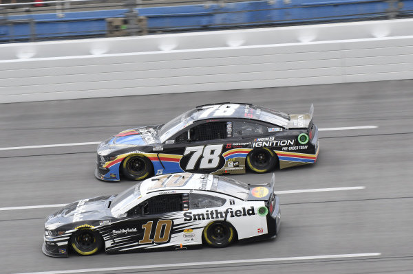 #10: Aric Almirola, Stewart-Haas Racing, Ford Mustang Smithfield, #78: B.J. McLeod, Live Fast Motorsports, Ford Mustang NASCAR 21 Ignition