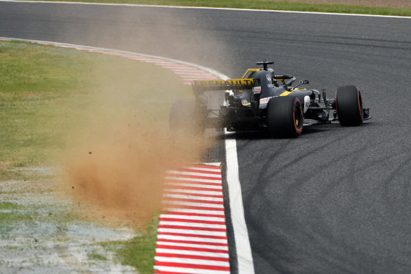 Nico Hulkenberg, Renault Sport F1 Team R.S. 18 spins and crashes in FP3