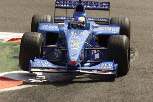 2000 Belgian Grand Prix.Spa-Francorchamps, Belgium. 25-27 August 2000.Giancarlo Fisichella (Benetton B200 Playlife).World Copyright - LAT Photographicref: 5 7mb DIGITAL