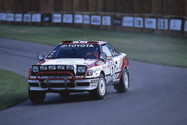 2002 Goodwood Festival of SpeedGoodwood, England. 12th - 14th July 2002.Ove Andersson, Toyota Celica GT4.World Copyright: Jeff Bloxham/LAT Photographicref: 35mm Image A18