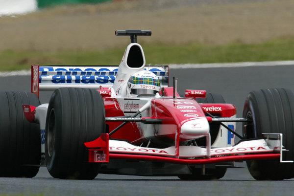 2002 Japanese Grand Prix.Suzuka, Japan. 11-13 October 2002.Allan McNish (Toyota TF102).World Copyright - LAT Photographicref: Digital File Only