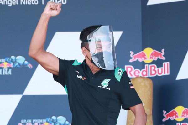 Razlan Razali , Petronas Yamaha SRT on the podium.