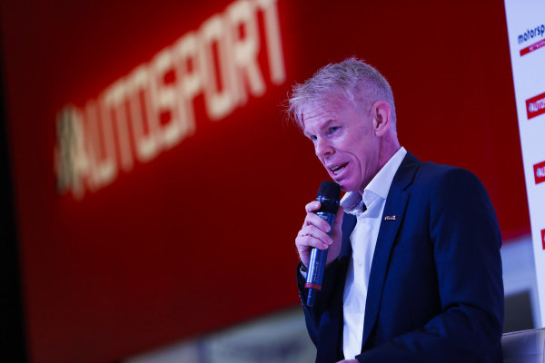 Alan Hyde on the Autosport Stage.