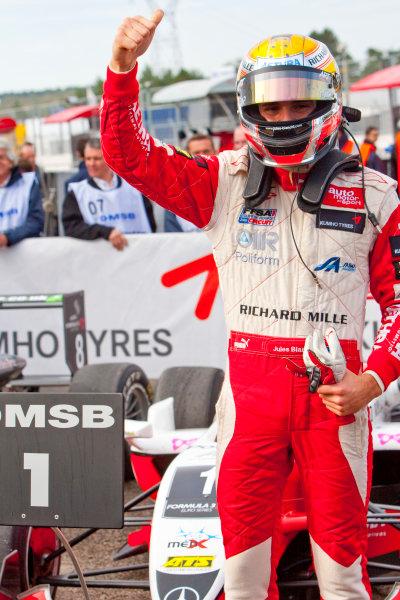 Dijon - Prenois, France. Sunday 11th October. xxxJules Bianchi (ART Grand Prix Dallara F308 / Mercedes) celebrates winning the 2009 Formula 3 Euro Series. World Copyright: Alastair Staley/LAT Photographic.Ref: _O9T9683 jpg