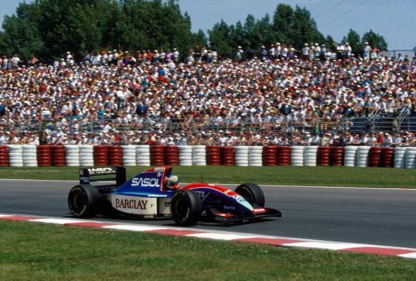 Montreal, Quebec, Canada. 11-13 June 1993.Rubens Barrichello (Jordan 931-Hart), retired, action. World Copyright: LAT Photographic.Ref:  Colour Transparency.