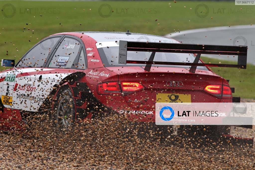 Oliver Jarvis (GBR), Audi Sport Team Abt, Audi Performance A4 DTM (2009) goes through the gravel.DTM, Rd8, Oschersleben, Germany, 16-18 September 2011 Ref: Digital Image dne1118se532