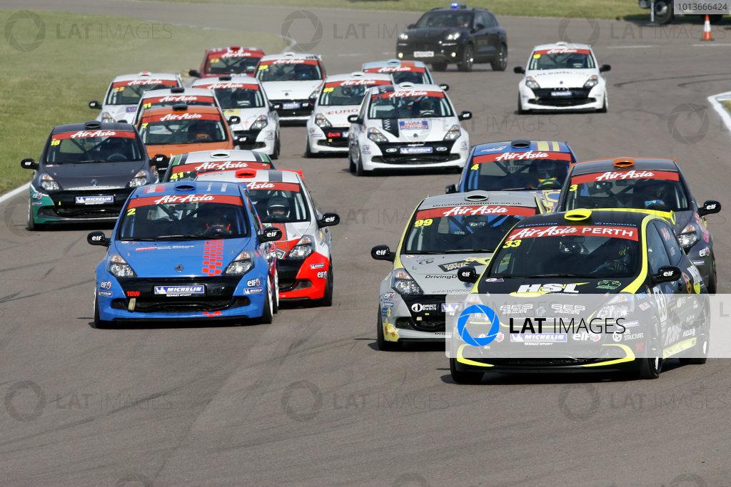 Rockingham, Northamptonshire. 17th - 18th September 2011.Race Start - Jack Goff (GBR) Team Pyro Renault Clio Cup leads.World Copyright: Ebrey/LAT Photographic.