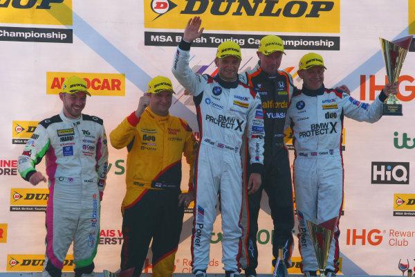 2017 British Touring Car Champinship, Snetterton. 29th-30th July 2017, Podium World copyright. JEP/LAT Photographic