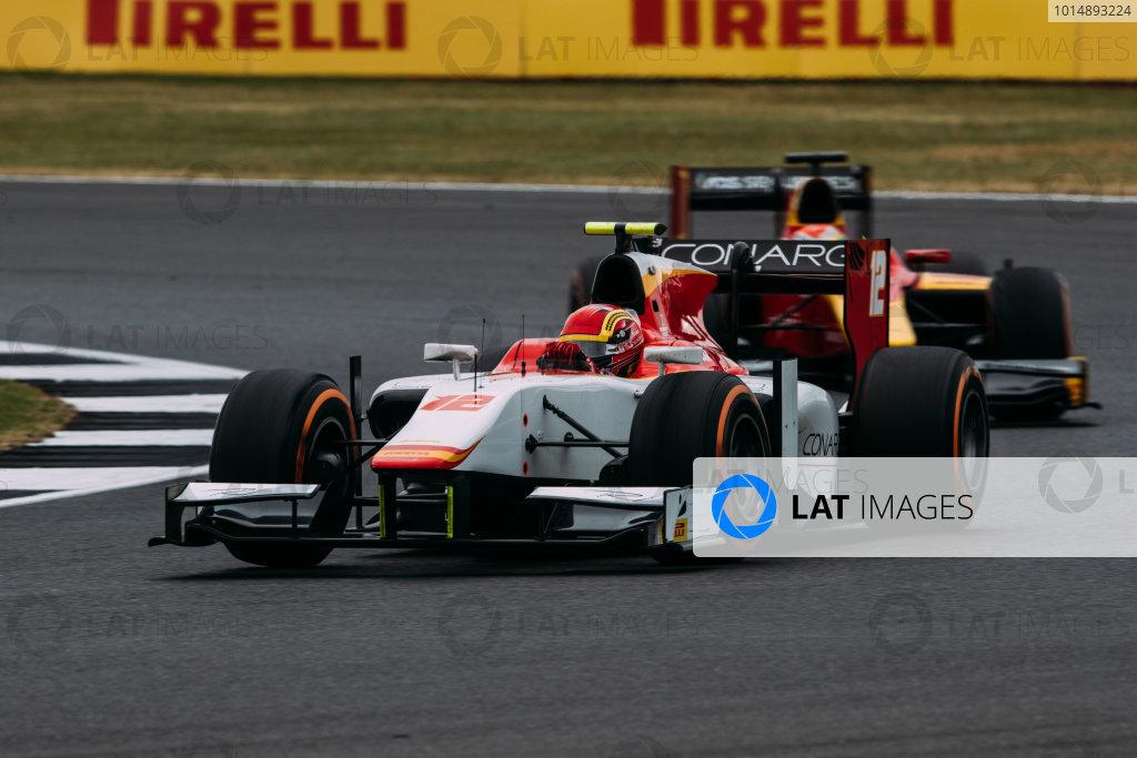 2017 FIA Formula 2 Round 6. Silverstone, Northamptonshire, UK. Sunday 16 July 2017. Robert Visoiu (ROU, Campos Racing).  Photo: Malcolm Griffiths/FIA Formula 2. ref: Digital Image MALC7648