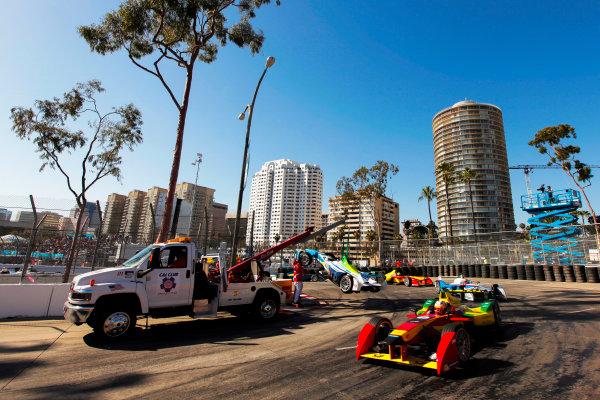 2014/2015 FIA Formula E Championship. Long Beach ePrix, Long Beach, California, United States of America. Saturday 4 April 2015 Daniel Abt (GER)/Audi Abt Sport - Spark-Renault SRT_01E  Photo: Zak Mauger/LAT/Formula E ref: Digital Image _MG_5701