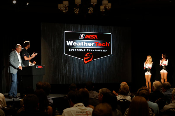 7-9 August, 2015, Elkhart Lake, Wisconsin, USA David and Cooper MacNeil announce the IMSA WeatherTech SportsCar Championship ? 2015, Michael L. Levitt LAT Photo USA