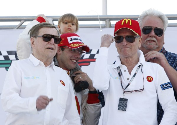 9-11 November, 2007, Autodromo Hermanos Rodriguez, Mexico City, MexicoSebastien Bourdais with team owners Carl Haas, Paul Newman and Mike Lanigan and daughter Emma©2007, Michael L. Levitt, USALAT Photographic
