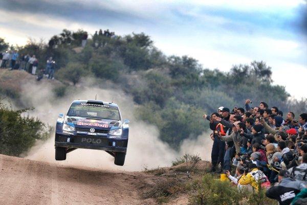 Sebastien Ogier (FRA) / Julien Ingrassia (FRA), Volkswagen Polo R WRC at World Rally Championship, Rd4, Rally Argentina, Day Two, Carlos Paz, Argentina, 25 April 2015.