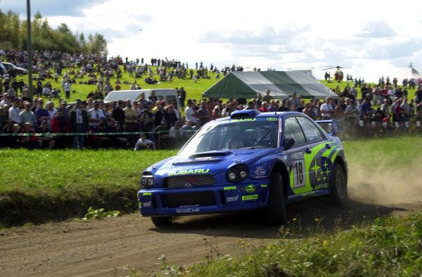 2001 World Rally Championship.Neste Rally Finland. Jyvaskyla, August 24-26, 2001.Markko Martin on stage 4.Photo: Ralph Hardwick/LAT