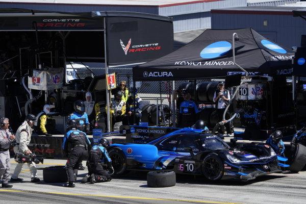 #10: Alex Palou, Chip Ganassi Racing Honda, #27: Alexander Rossi, Andretti Autosport Honda, #9: Scott Dixon, Chip Ganassi Racing Honda, podium