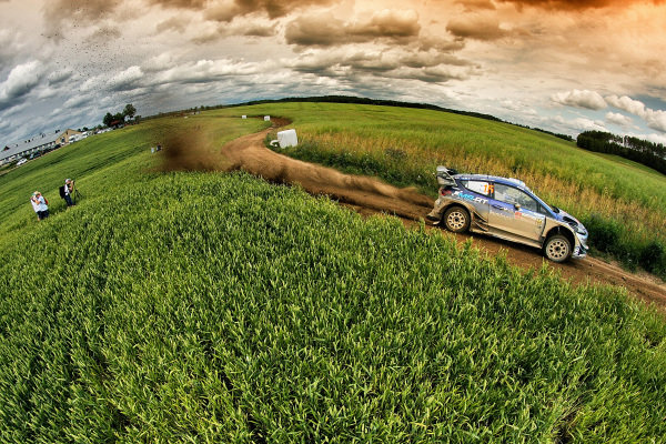 Teemu Suninen (FIN) / Mikko Markkula (FIN) M-Sport World Rally Team Ford Fiesta WRC at World Rally Championship, Rd8, Rally Poland, Day Three, Mikolajki, Poland, 2 July 2017.
