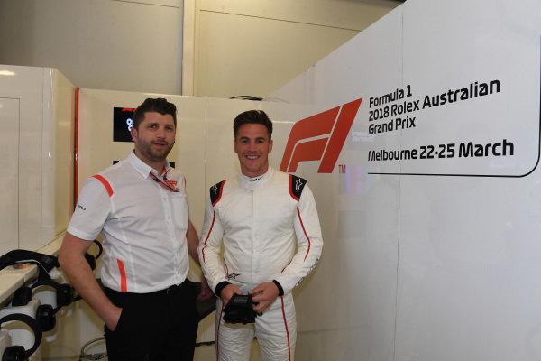 F1 Experiences 2-Seater passenger at Formula One World Championship, Rd1, Australian Grand Prix, Preparations, Melbourne, Australia, Wednesday 21 March 2018.