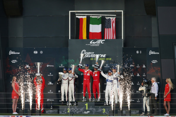 GT Pro Podium celebrations
