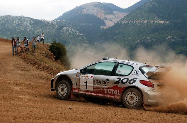 World Rally Championship, Acropolis Rally, June 13-16, 2002.Richard Burns during shakedown.Photo: Ralph Hardwick/LAT