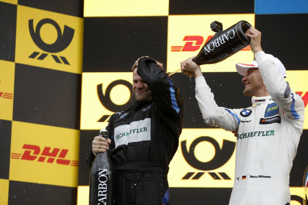 Podium: Race winner Marco Wittmann, BMW Team RMG.