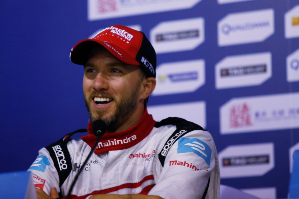 FIA Formula E Championship 2015/16. Beijing ePrix, Beijing, China. Nick Heidfeld (GER), Mahindra Racing M2ELECTRO  Press Conference Beijing, China, Asia. Saturday 24 October 2015 Photo: Sam Bloxham / LAT / FE ref: Digital Image _SBL7972