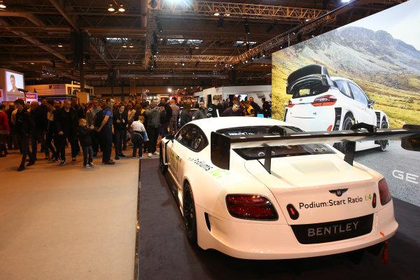 Autosport International Exhibition. National Exhibition Centre, Birmingham, UK. Saturday 14 January 2017. The M-Sport Bentley. World Copyright: Mike Hoyer/EbreyLAT Photographic. Ref: MDH17632