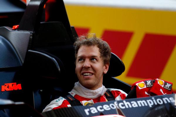 2017 Race of Champions Miami, Florida, USA Friday 20 January 2017 Sebastian Vettel  World Copyright: Alexander Trienitz/LAT Photographic ref: Digital Image 2017-24h-RoC-MIA-AT2-0205