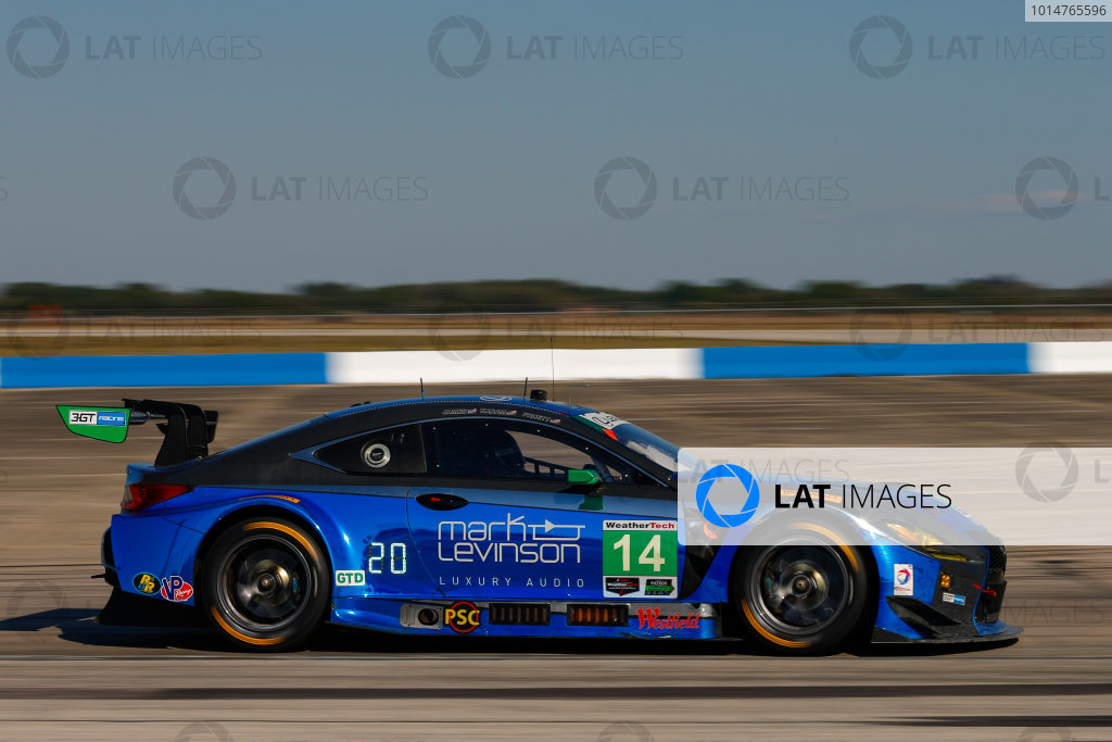2017 IMSA WeatherTech SportsCar Championship Mobil 1 Twelve Hours of Sebring Sebring International Raceway, Sebring, FL USA Saturday 18 March 2017 14, Lexus, Lexus RCF GT3, GTD, Scott Pruett, Ian James, Sage Karam World Copyright: Jake Galstad/LAT Images ref: Digital Image lat-galstad-SIR-0317-14461