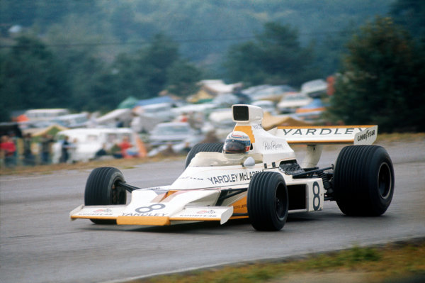 Mosport Park, Ontario, Canada. 21-23 September 1973. Peter Revson (McLaren M23 Ford) 1st position. Action. Ref-73 CAN 20. World Copyright - LAT Photographic